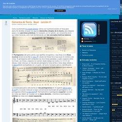 Elementos de Teoría - Beyer - Lección #1 - Pianosolo - Partituras gratis para piano, lecciones para aprender a tocar el piano