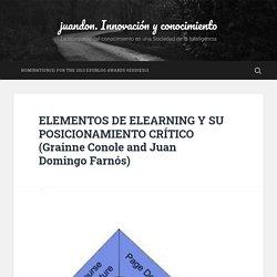ELEMENTOS DE ELEARNING Y SU POSICIONAMIENTO CRÍTICO (Grainne Conole and Juan Domingo Farnós)