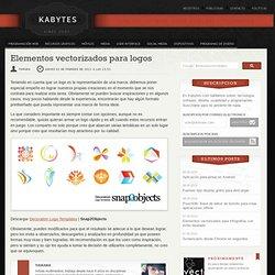 Elementos vectorizados para logos
