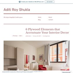 6 Plywood Elements that Accentuate Your Interior Decor