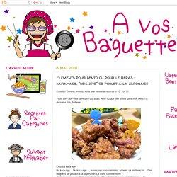 """Kara-age, """"beignets"""" de poulet a la japonaise"""