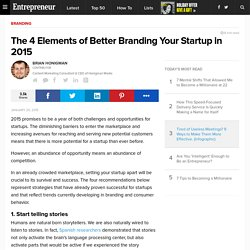 The 4 Elements of Better Branding Your Startup in 2015