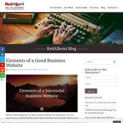 Elements of a Good Business Website - RedAlkemi