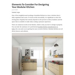 Think about design ideas before creating a modular kitchen