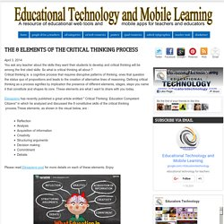 Educational Technology and Mobile Learning: The 8 Elements of The Critical Thinking Process