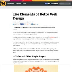The Elements of Retro Web Design