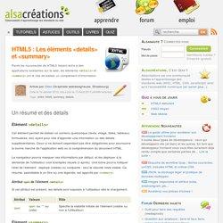 HTML5 : Les éléments <details> et <summary>