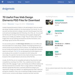70 Useful Free Web Design Elements PSD Files for Download