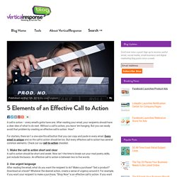 5 Elements of an Effective Call to Action Button