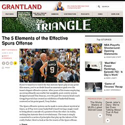 The 5 Elements of the Effective Spurs Offense
