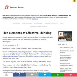 Five Elements of Effective Thinking
