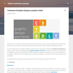 7 Elements of Graphics Design to consider in 2020