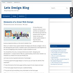 Elements of a Great Web Design