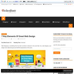 7 Key Elements of Great Web Design You Need to Know