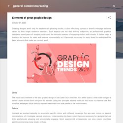 Elements of great graphic design