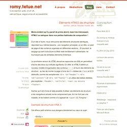Éléments HTML 5 de structure