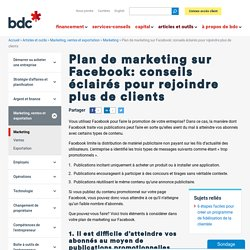 3 éléments pour votre marketing Facebook