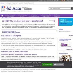 C 3 A : Éléments de mathématiques - calcul@TICE