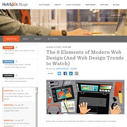 The 7 Elements of Modern Web Design