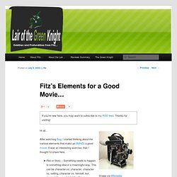 Fitz's Elements for a Good Movie…