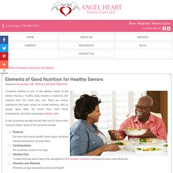 Elements of Good Nutrition for Healthy Seniors
