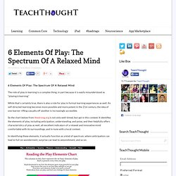 6 Elements Of Play: The Spectrum Of A Relaxed Mind