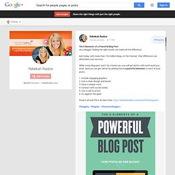 The 6 Elements of a Powerful Blog Post As a blogger, finding the right words…