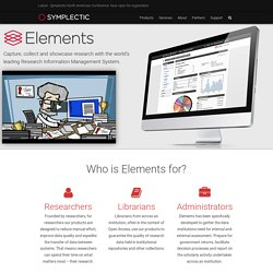 Elements - Our Products - Symplectic