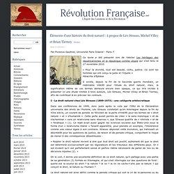 Éléments d'une histoire du droit naturel: à propos de Léo Strauss, Michel Villey et Brian Tierney