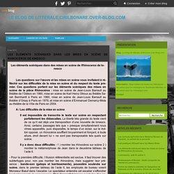 Les éléments scéniques dans les mises en scène de Rhinocéros de Ionesco - Le blog de litterale.cirilbonare.over-blog.com