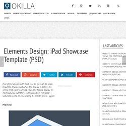 elements design: ipad showcase template (psd)