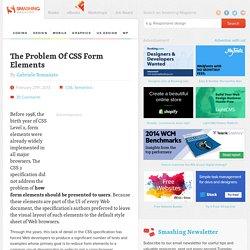 The Problem Of CSS Form Elements - Smashing Magazine