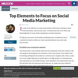 Top Elements to Focus on Social Media Marketing