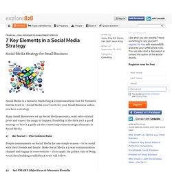 7 Key Elements in a Social Media Strategy