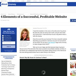 4 Elements of a Successful, Profitable Website