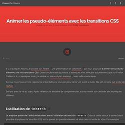 Animer les pseudo-éléments avec les transitions CSS - Vincent De Oliveira