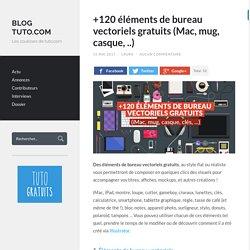 +120 éléments de bureau vectoriels gratuits (Mac, mug, casque, ..) - Blog Tuto.com