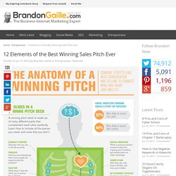 12 Elements of the Best Winning Sales Pitch Ever