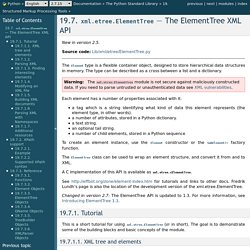 19.13. xml.etree.ElementTree — The ElementTree XML API — Python v2.7.2 documentation