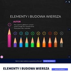 ELEMENTY I BUDOWA WIERSZA by Karolina Kancerek on Genially