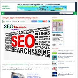 Melyek egy SEO elemzés mérőpontjai ? - Digitális marketing tippek