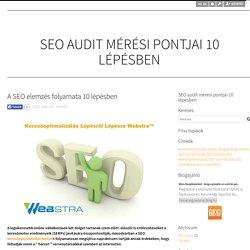 A SEO elemzés folyamata 10 lépésben - SEO audit mérési pontjai 10 lépésben