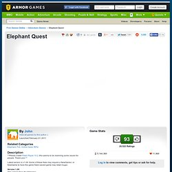 Elephant Quest | Armor Games