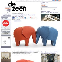 Ronny felt elephant toys by Daniel Böttcher for Formverleih