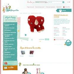 éléphant doudou en crochet - Anne-Claire Petit