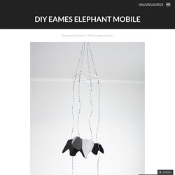 DIY Eames Elephant Mobile