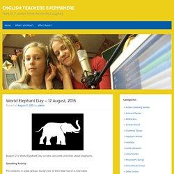 World Elephant Day – 12 August, 2015