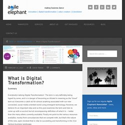 Agile Elephant making sense of digital – What is Digital Transformation?