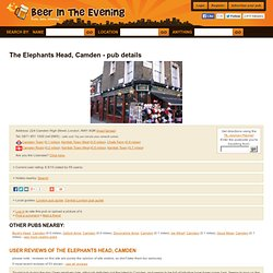 Elephants Head, Camden, London, NW1 8QR - pub details # beerinth