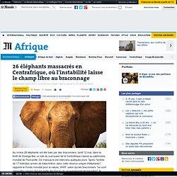 26 éléphants massacrés dans une réserve classée en Centrafrique